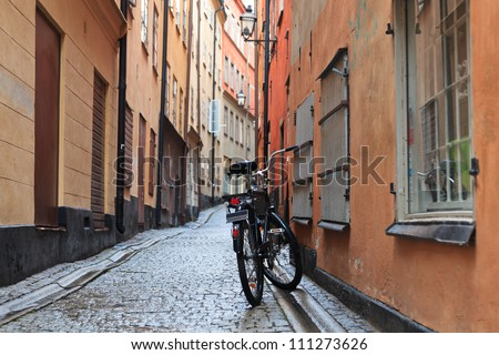 bicycle on streets of Stockholm