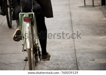 bicycle  on the street #760039129