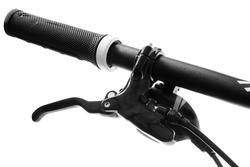 bicycle parts handlebar brake black pen on a white background