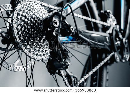 bicycle parts rear wheel brake disc cassette fragment frame #366933860