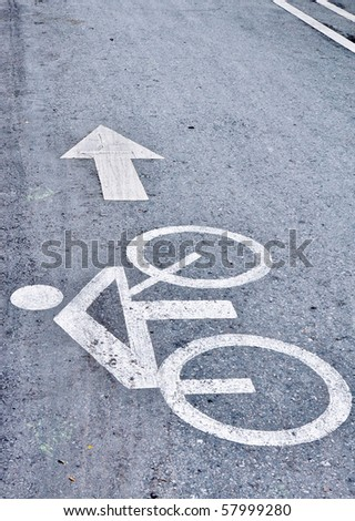 bicycle path 3 - stock photo