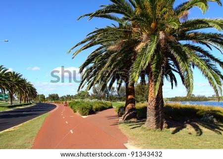 Bicycle path in Perth, Australia