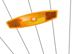Bicycle reflectors isolated against a white background