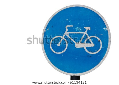 Bicycle Road Sign isolated on white
