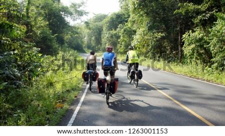 bicycle touring forrest #1263001153