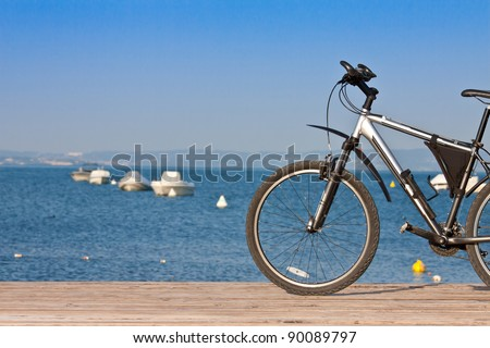 bicycle  tourism concept