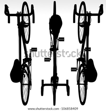 bicycle vector illustration - stock photo