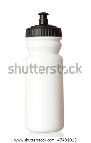 Bicycle water bottle isolated on white background