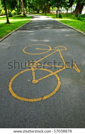 Bicycle way in park