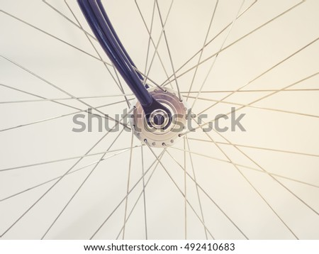Bicycle Wheel Spoke and Chain details #492410683