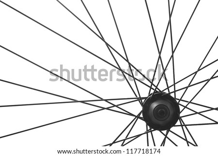 bicycle wheel spoke detail isolated