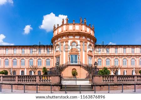Biebricher Castle in Wiesbaden on the Rhine Germany, Biebrich