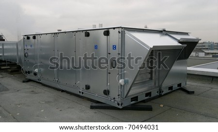 Big air control system on a roof