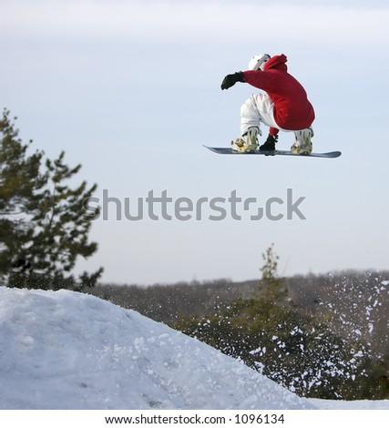 Big Air Snowboarder