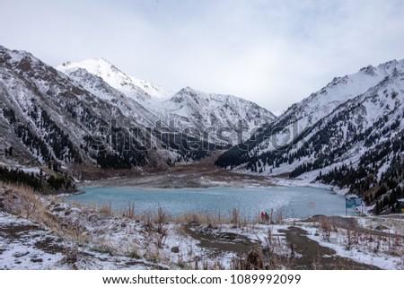 Big Almaty Lake ,Tien Shan mountains in Almaty, Kazakhstan #1089992099