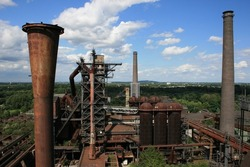 Big and old iron smelting factory