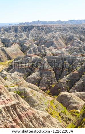 Big Badlands Overlook view of sweeping badlands at Badlands National Park