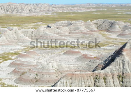 Big Badlands Overlook view of sweeping badlands rock formations