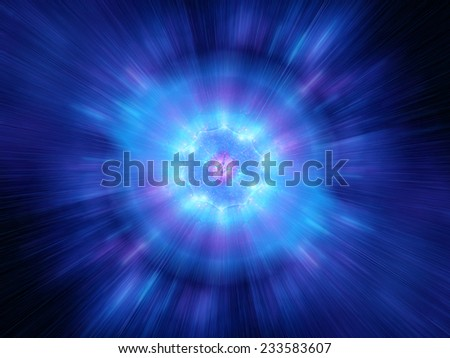 Big bang in space, computer generated abstract background