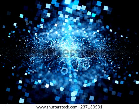 Big bang of future technologies, computer generated abstract background