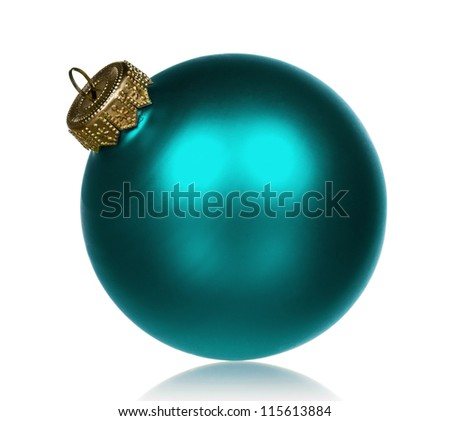Big bauble for christmas firtree on white background