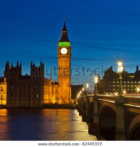 Big Ben and Houses of Parliament - stock photo