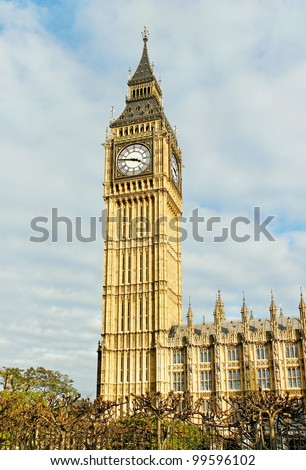 Big Ben and Palace of Westminster.