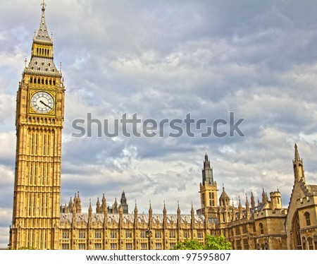 Big Ben and Parliament, England, UK