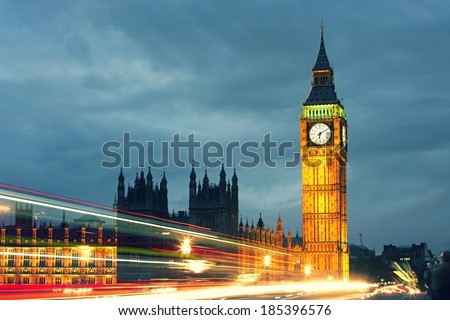Big Ben and the Houses of Parliament, London, UK  - stock photo