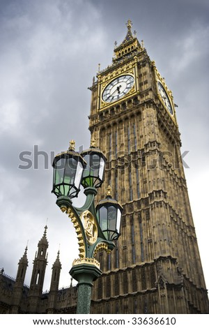 Big Ben and the lights