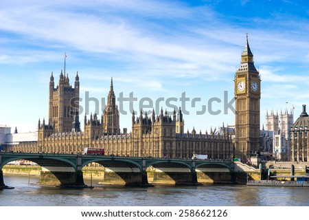Big Ben and Westminster abbey, London, England