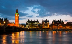 Big Ben at night, London, UK