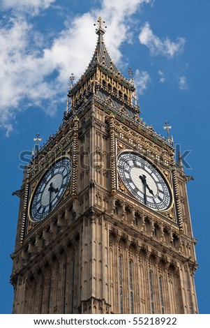 Big Ben at Westminster Palace in London