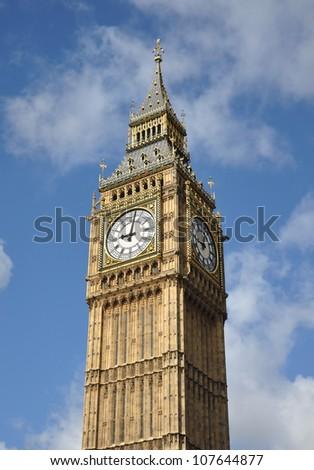 Big Ben Clock in London England