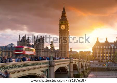 Big Ben Clock Tower, City of London, Westminster, United Kingdom  #791976187