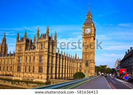 big ben clock tower in london...