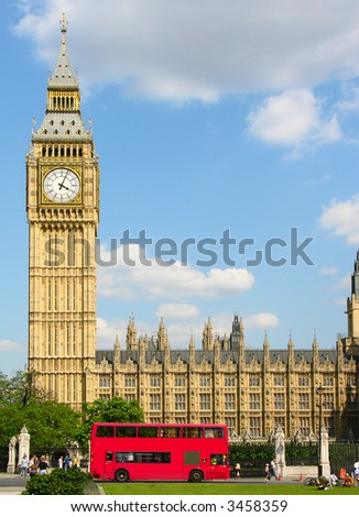 Big Ben - famous clock and London landmark.