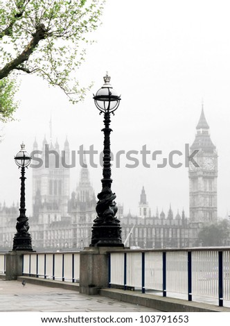 Big Ben & Houses of Parliament, idyllic view