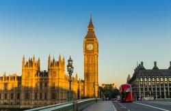 Big Ben in London at sunrise