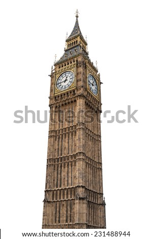 big ben in london isolated on...