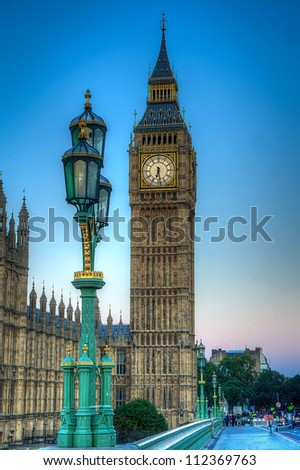 Big Ben in london shot as HDR image