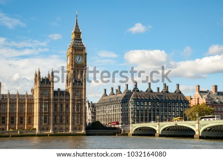 Big Ben in London, UK #1032164080