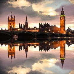 Big Ben in the evening, London, UK