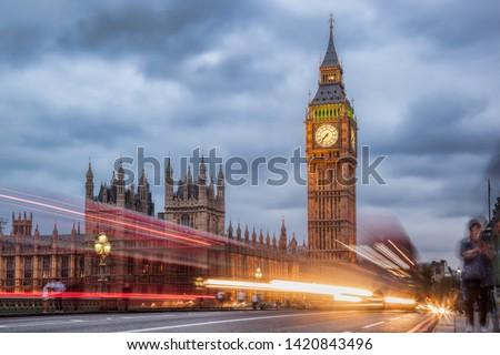 Big Ben in the evening, London, United Kingdom #1420843496