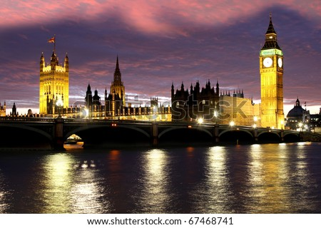 Big Ben in the evening, Westminster, London