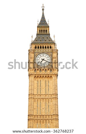 Big ben isolated on white, clipping path included #362768237