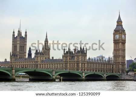 Big Ben, London gothic architecture, UK