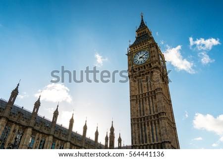 Big Ben. London parliament and Big Ben. London, England.  #564441136