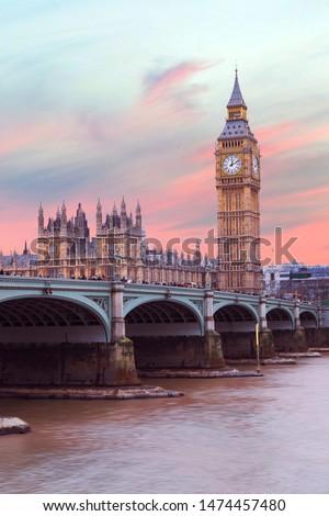 Big ben, morning light in London (England)