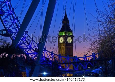 Big Ben through the London Eye